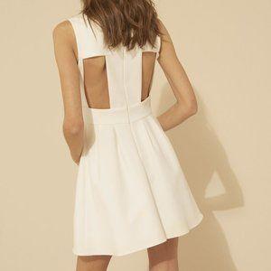 NWT ba&sh White Wilson Cutout Fit-and-Flare Dress